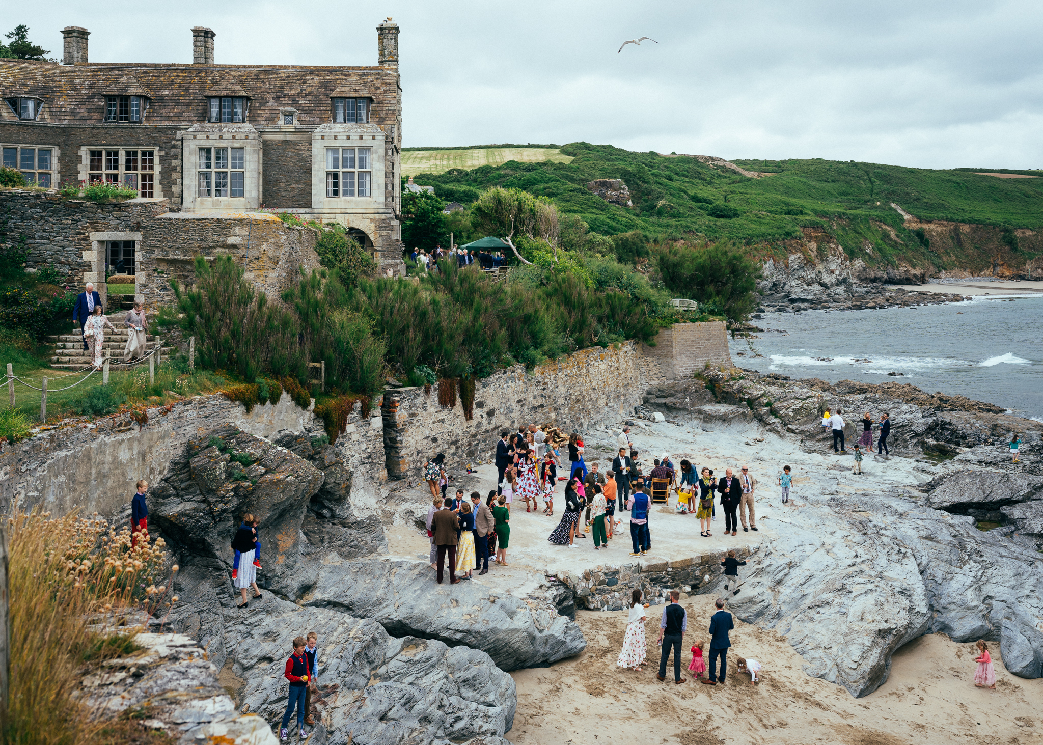 Marquee Wedding At Prussia Cove Cornwall