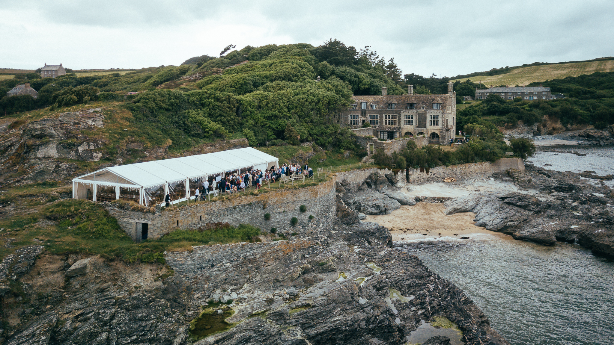 Prussia Cove Cornwall Marquee Wedding