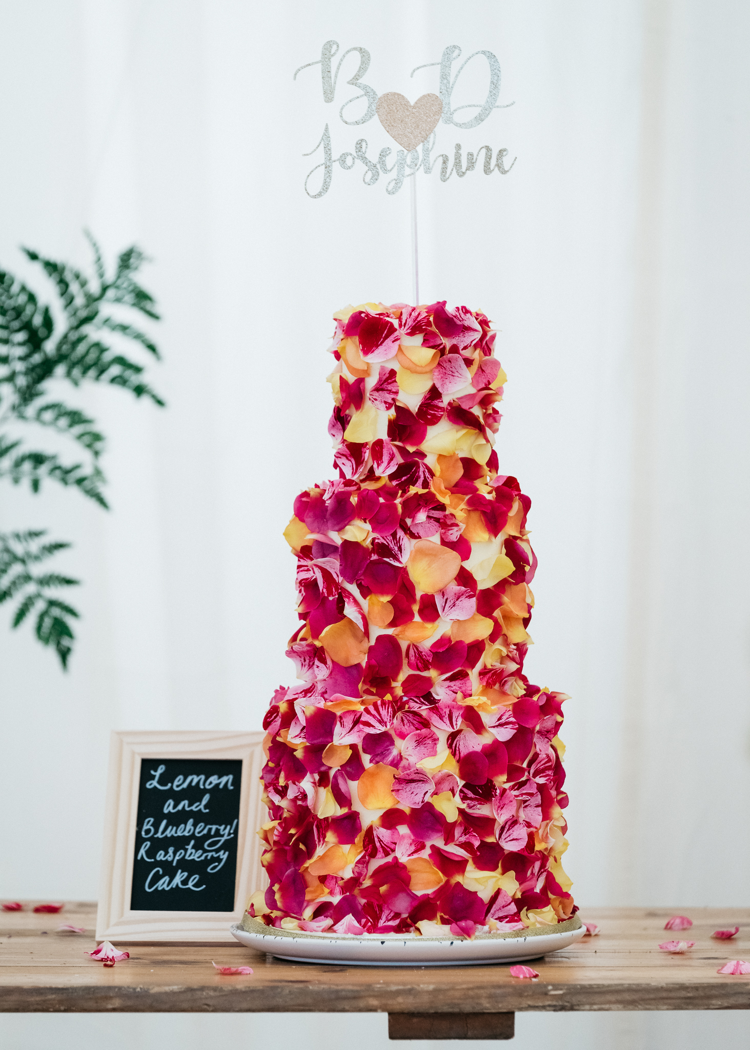Rose Petal Wedding Cake