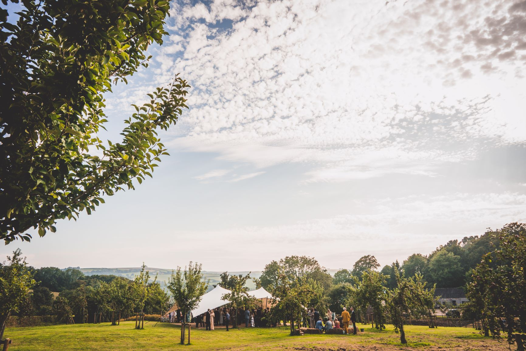 Cocktail Reception Private Estate Wedding Devon